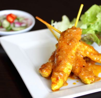 Chicken Satays at Oishii Japanese & Thai Cuisine Hunter Valley